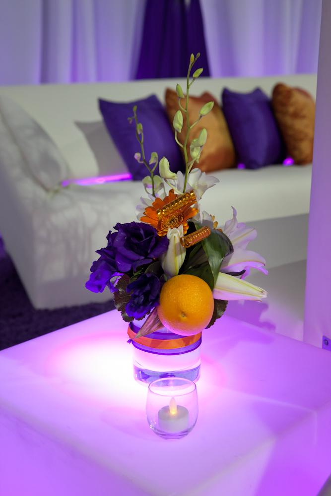 lounge area floral