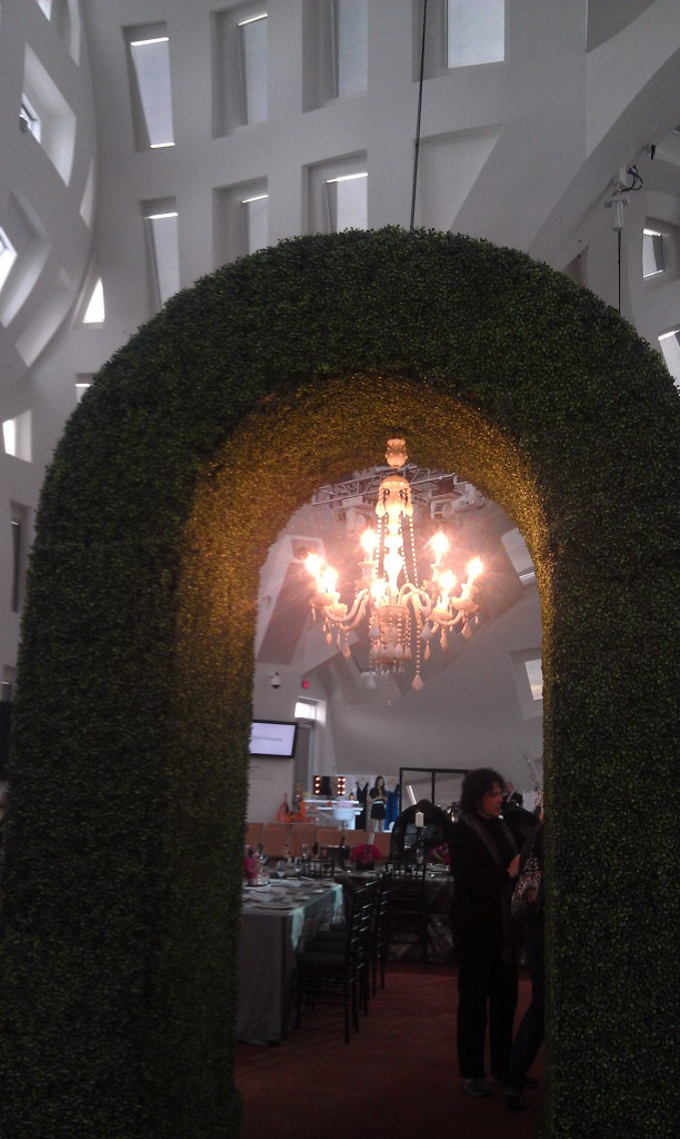 Keep Memory Alive Event Center entrance with crystal chandelier