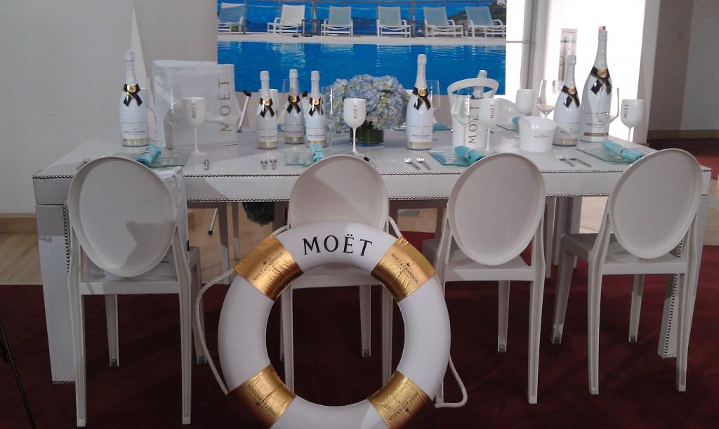 Moët Ice beach poolside outdoor wedding