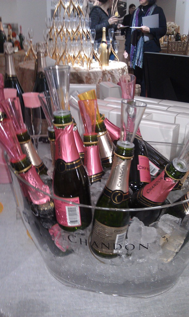 chandon rose with mini flute