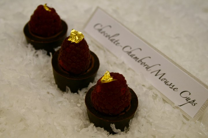 chocolate chambord mousse cups