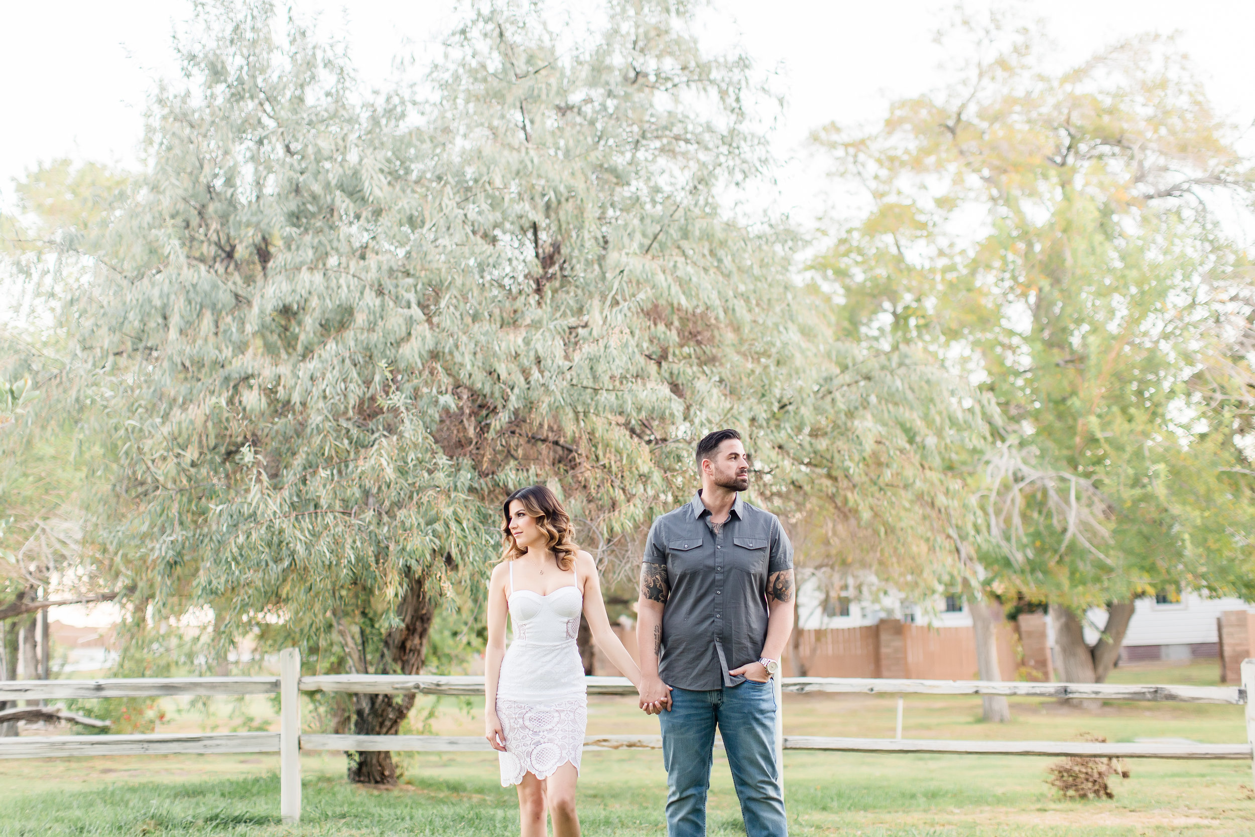 outdoor las vegas engagement photos, las vegas wedding planner, green orchid events, wedding planning las vegas