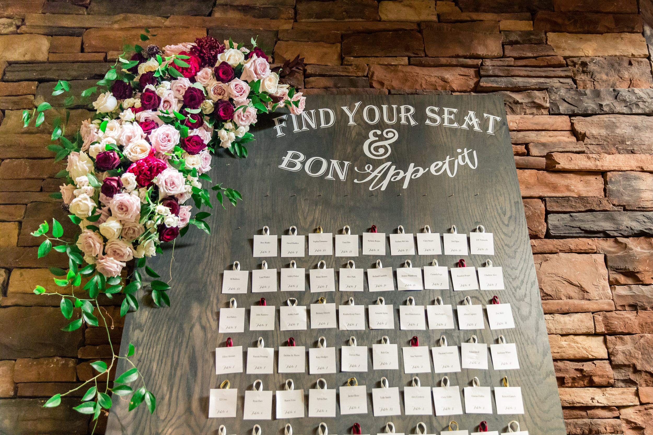 escort cards wedding day stationery, layers of lovely