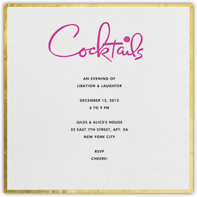 kate spade for paperless post cocktails