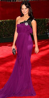 lindsay price red carpet emmys purple J. Mendel gown