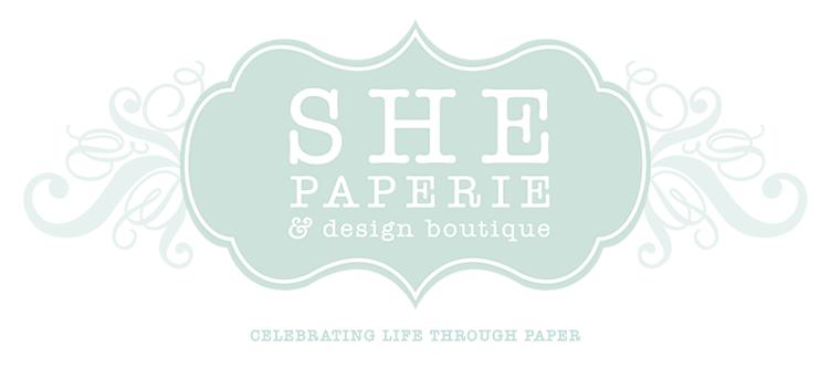 logo - SHE PAPERIE + design boutique