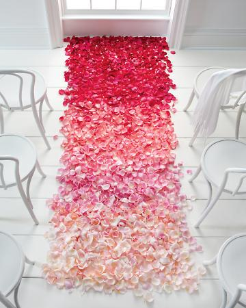 ombre-wedding-aisle-flower-petals
