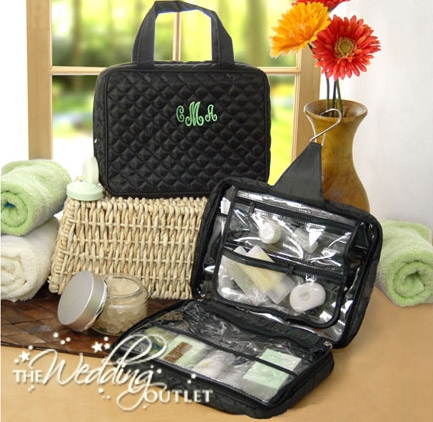 quilted hanging cosmetic bags