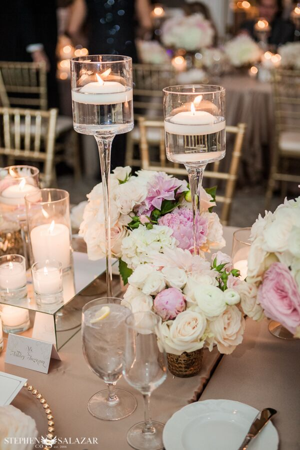 reception floral for a wedding blush pink floral