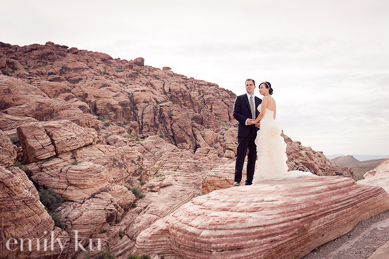 wedding portraits at red rock canyon by emily ku