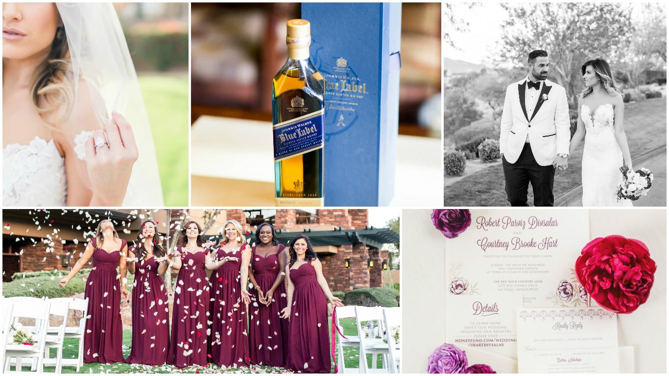 paper and home wedding invitations, rose petals, bridesmaids, wedding ring
