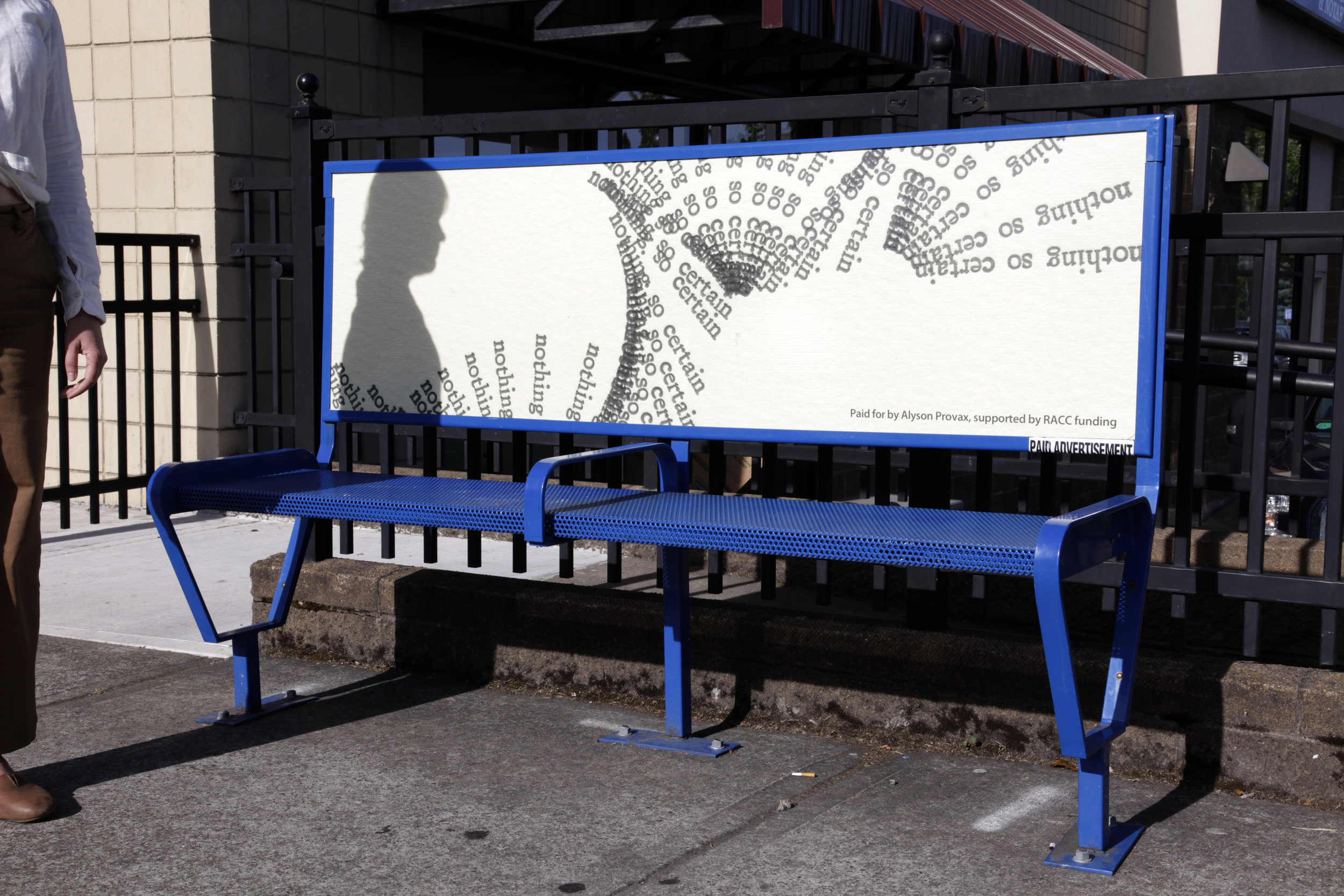 "Alyson Provax  ""Something Nameless"" Temporary Public Art Project"