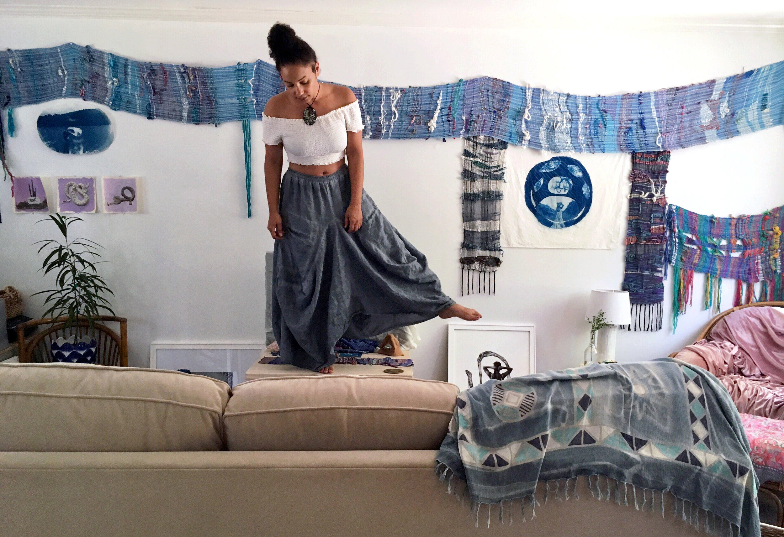 Calethia DeConto in her studio