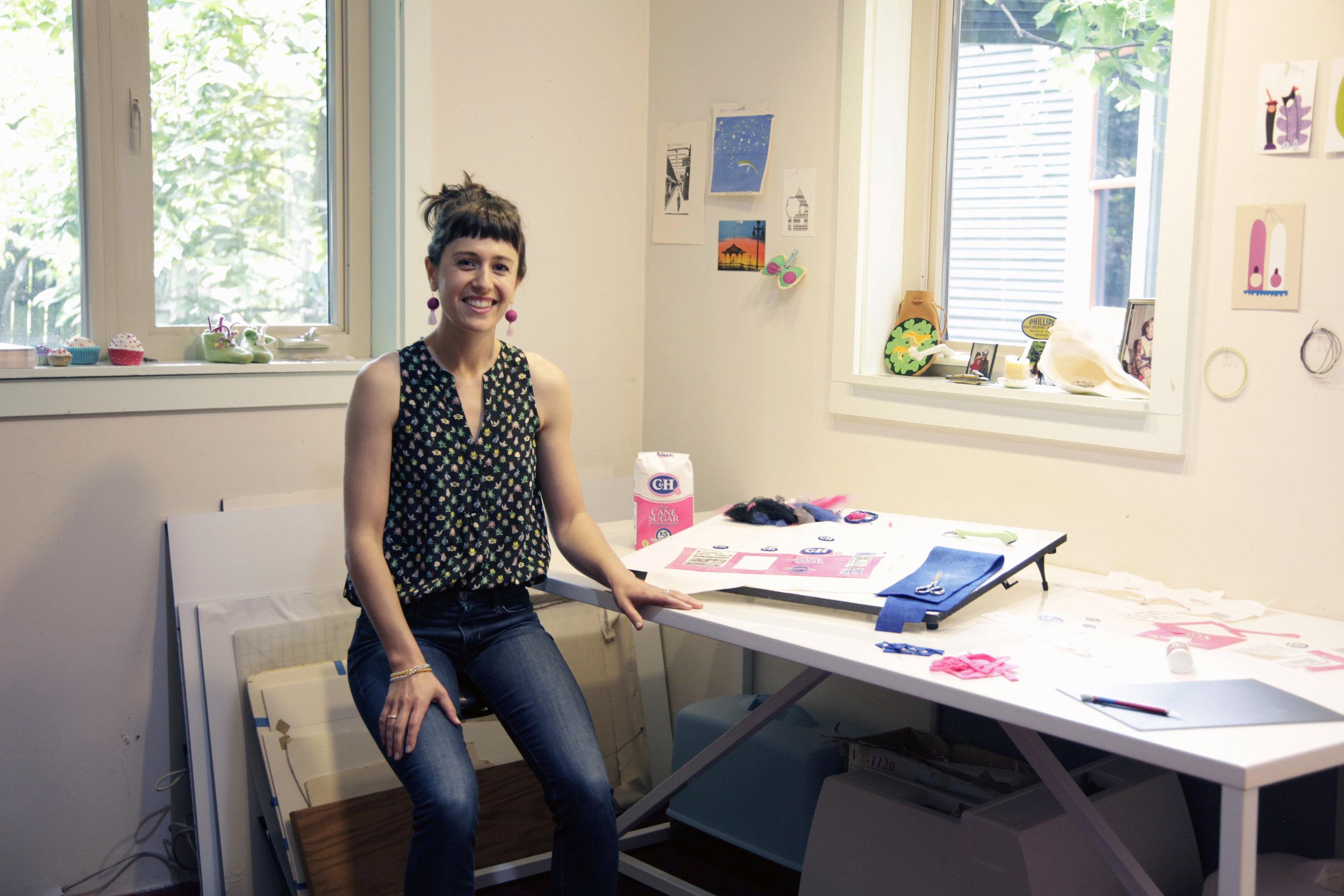 LeBrie Rich in her studio