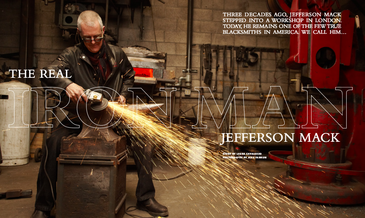 Jefferson Mack featured in Restoration Hardware catalog