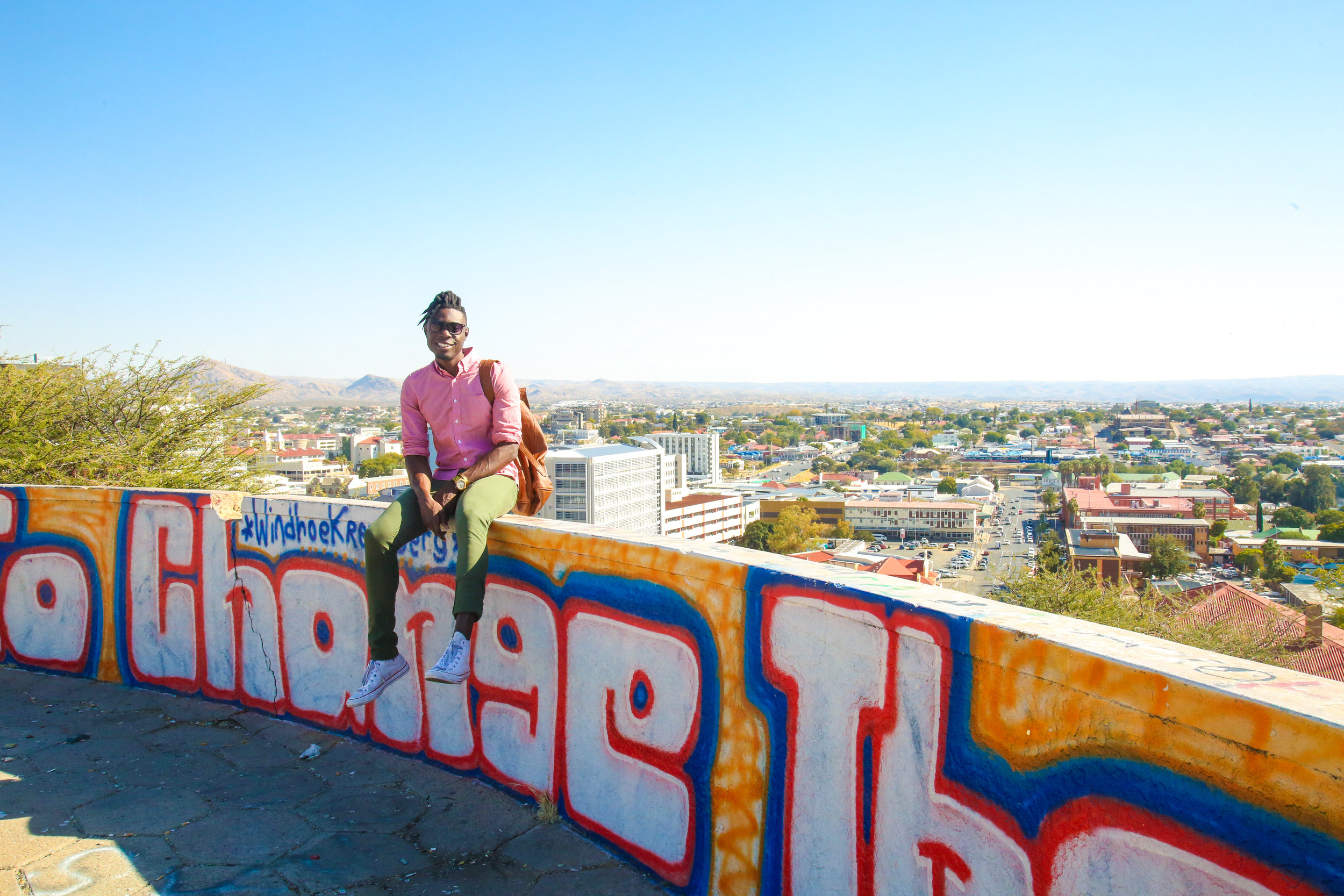 Downtown Windhoek in the background  Image by  Kevin Perestrelo
