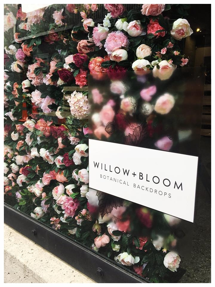 Pink Floral Wall In Action…