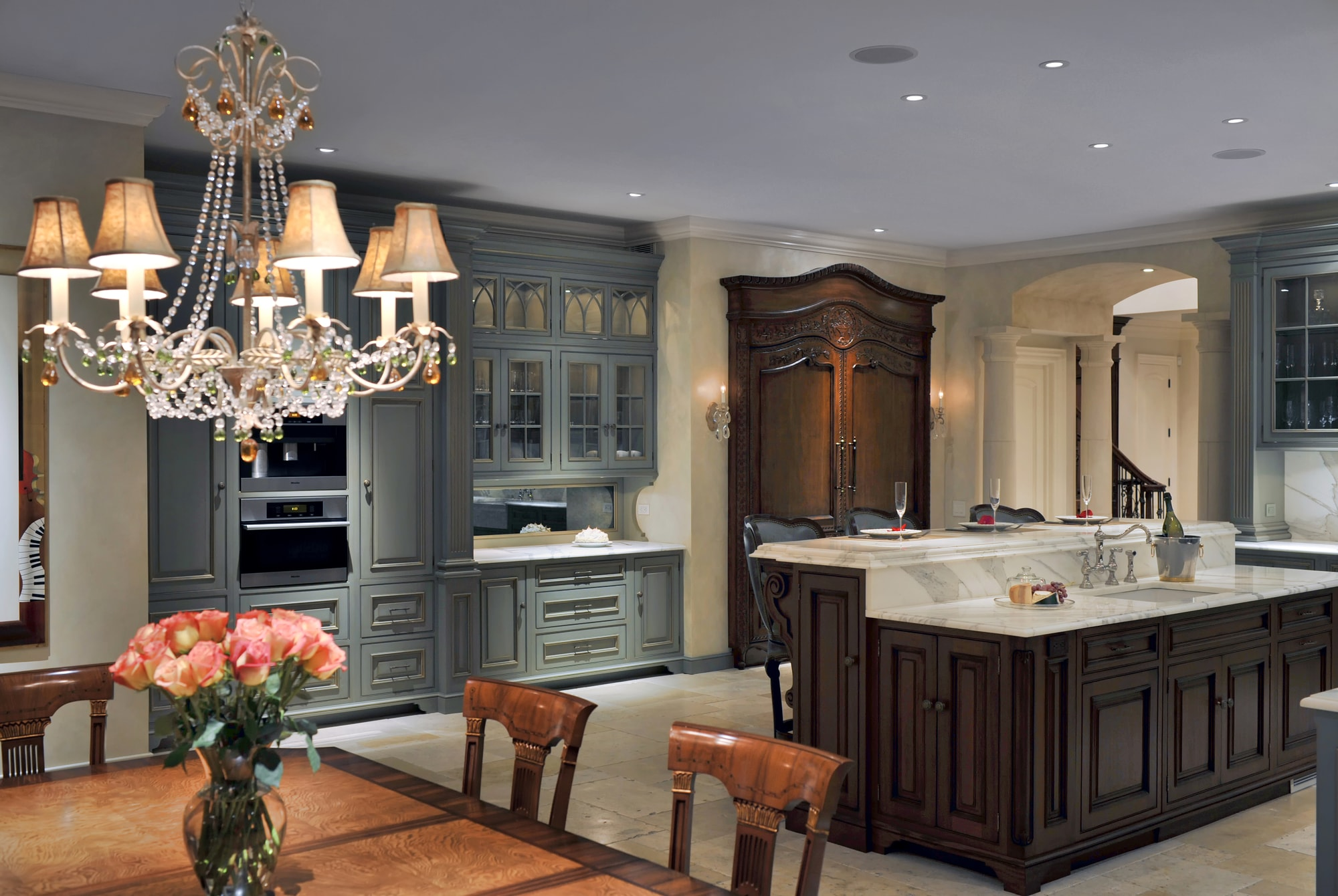 French Chateau Amazing Custom Kitchens In Long Island Showcase Kitchen Remodeling