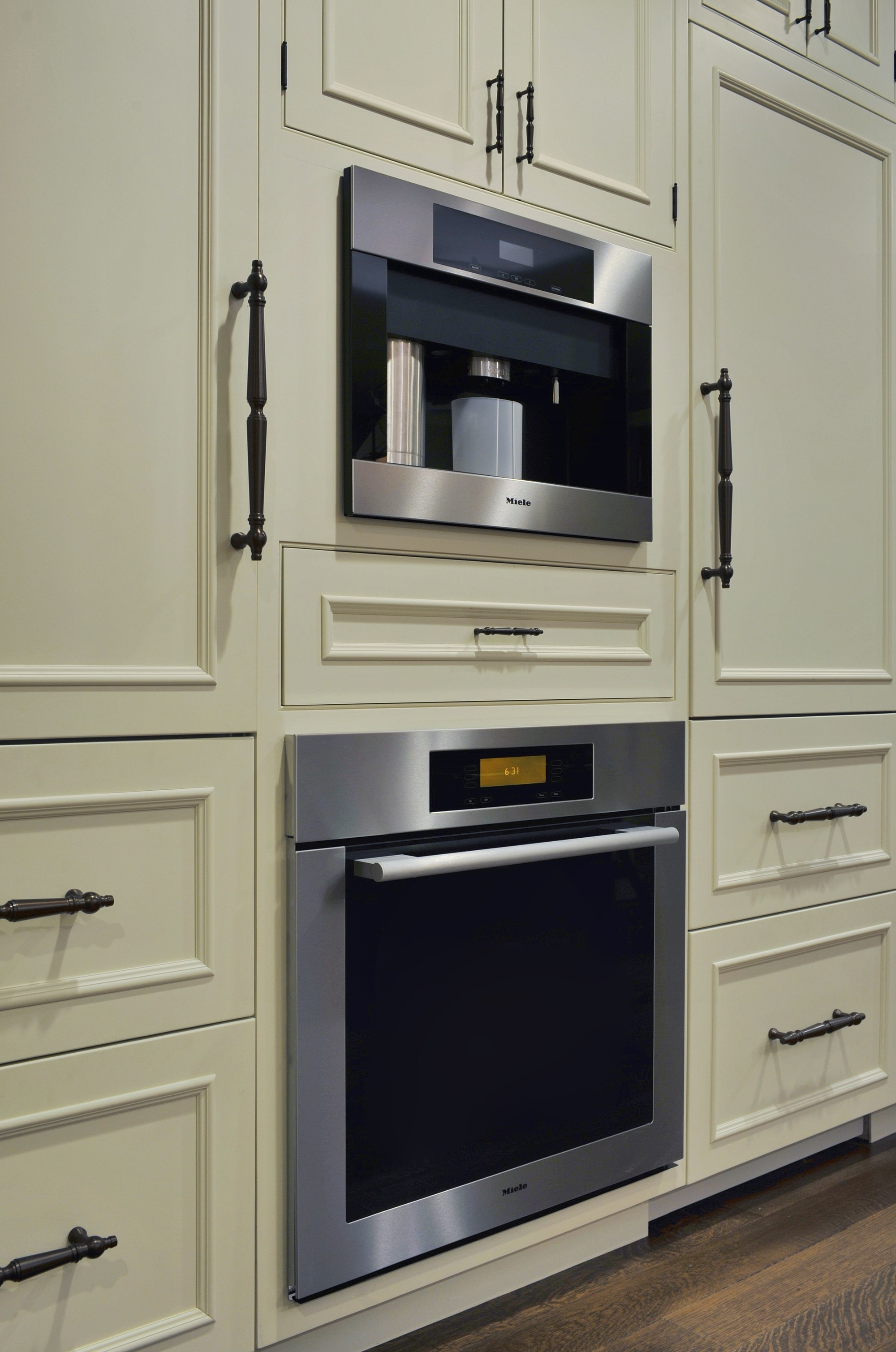 Traditional style kitchen with speed cook oven
