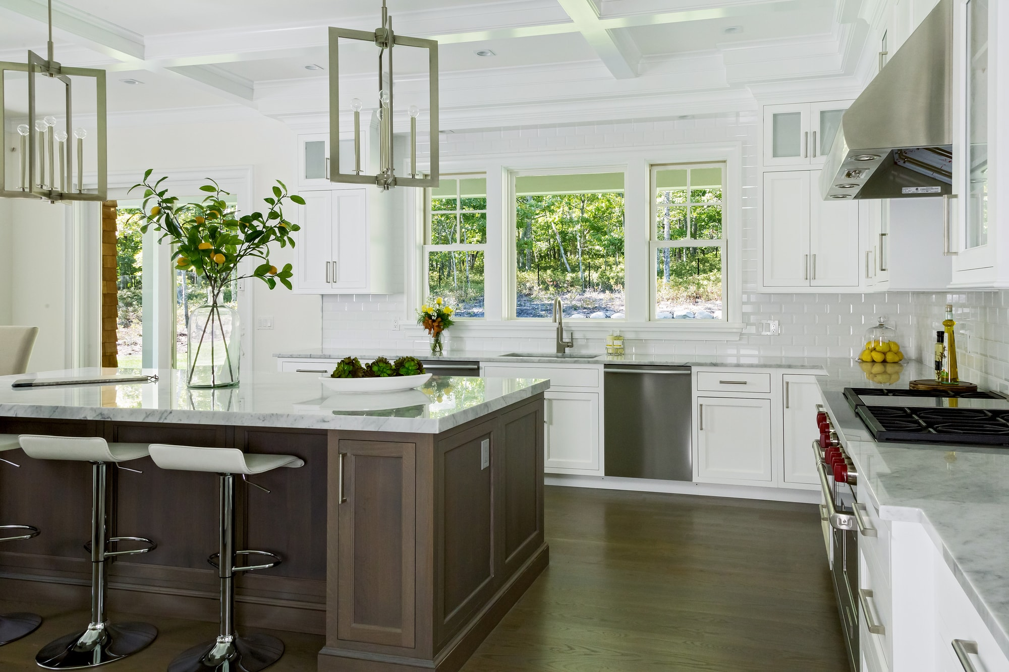 Copy of Transitional style kitchen with marble countertop