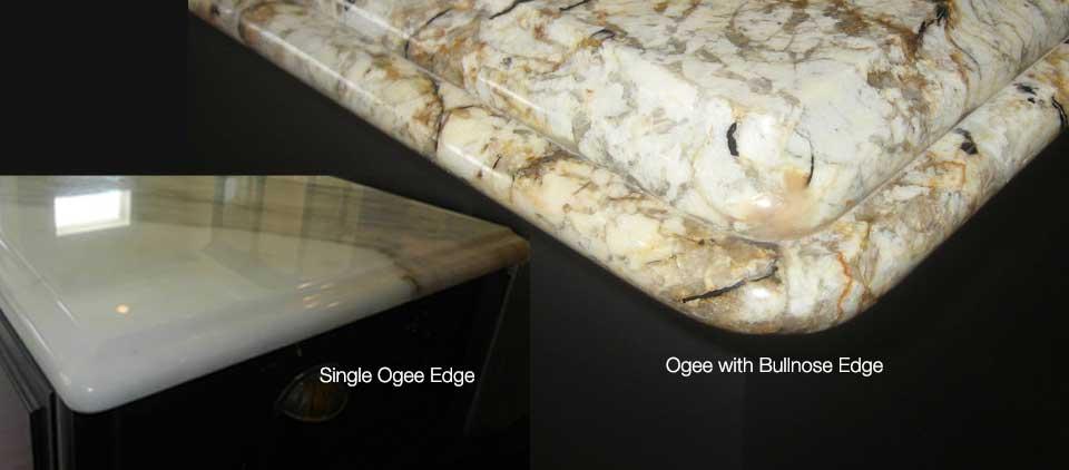 single ogee edge ogee with bullnose edge