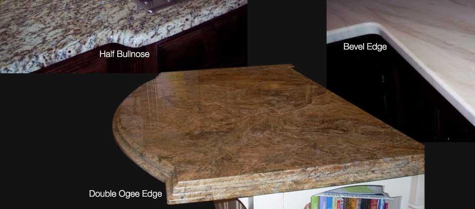 half bullnose bevel edge double ogee edge countertop