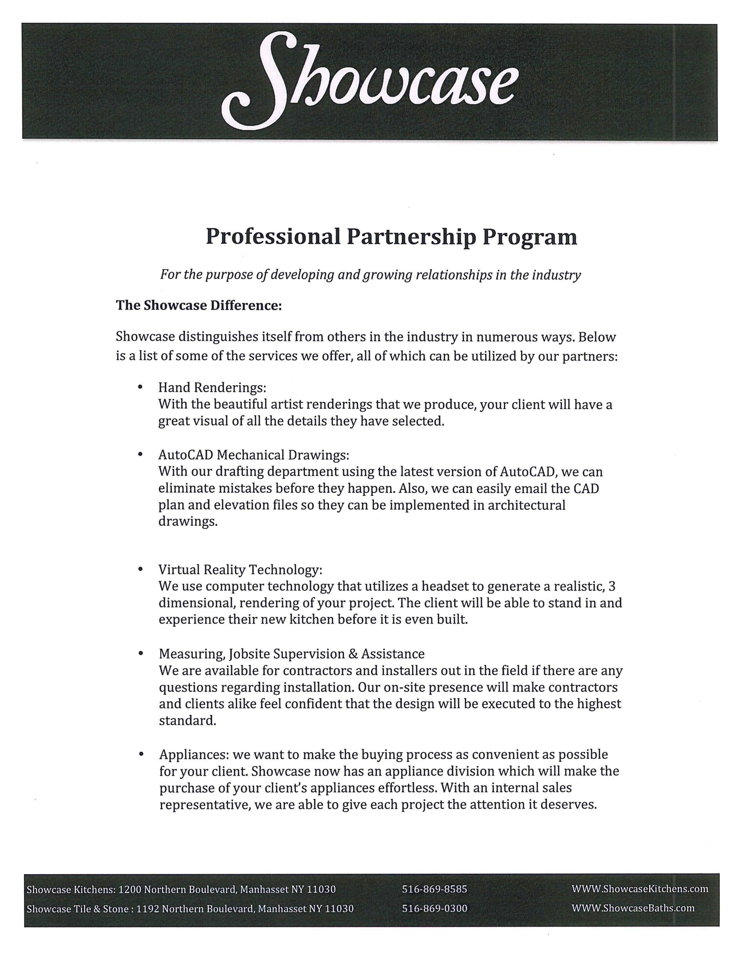 Partner Program Information page 2