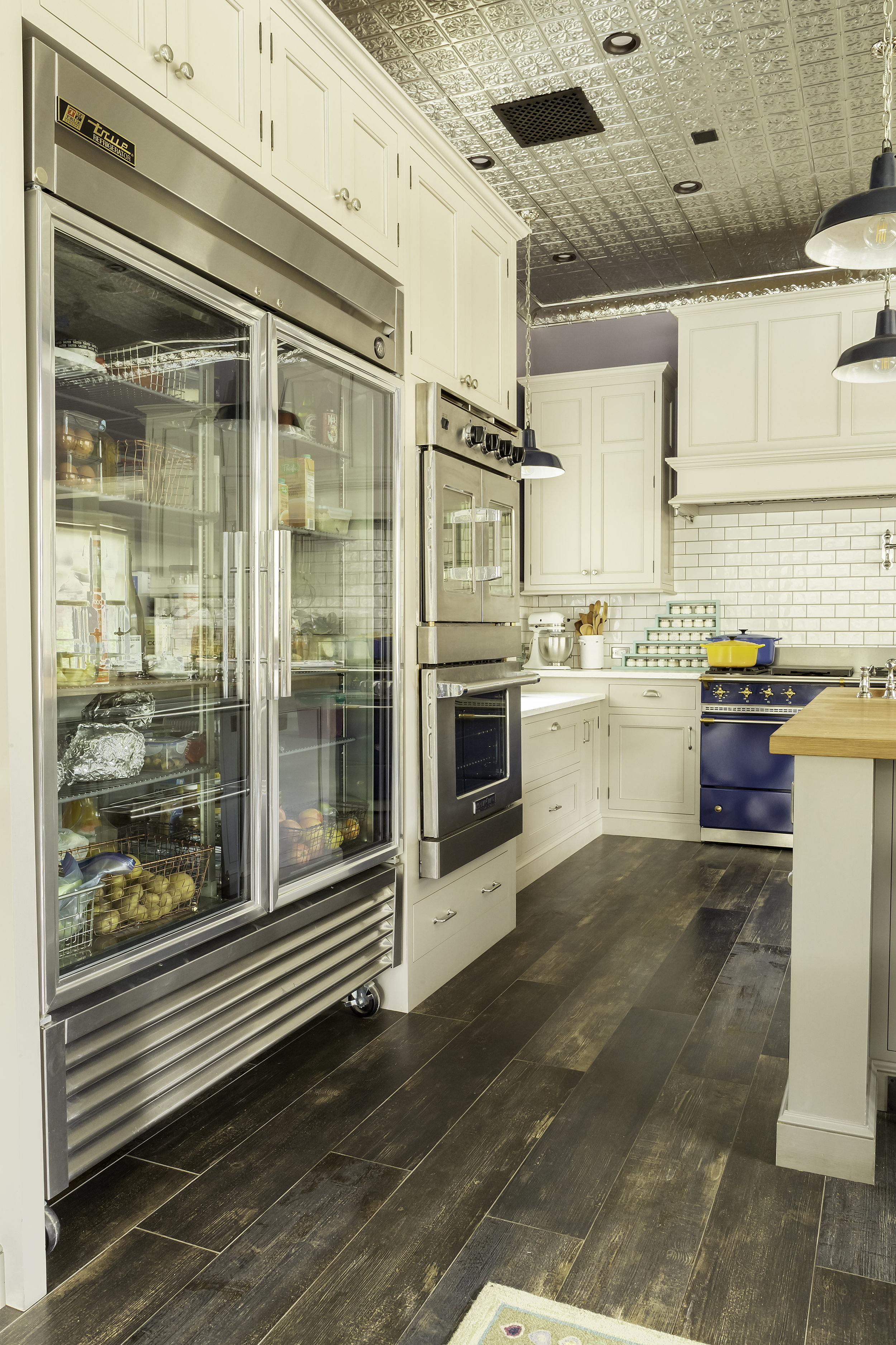 modern country kitchen with commercial refrigeration