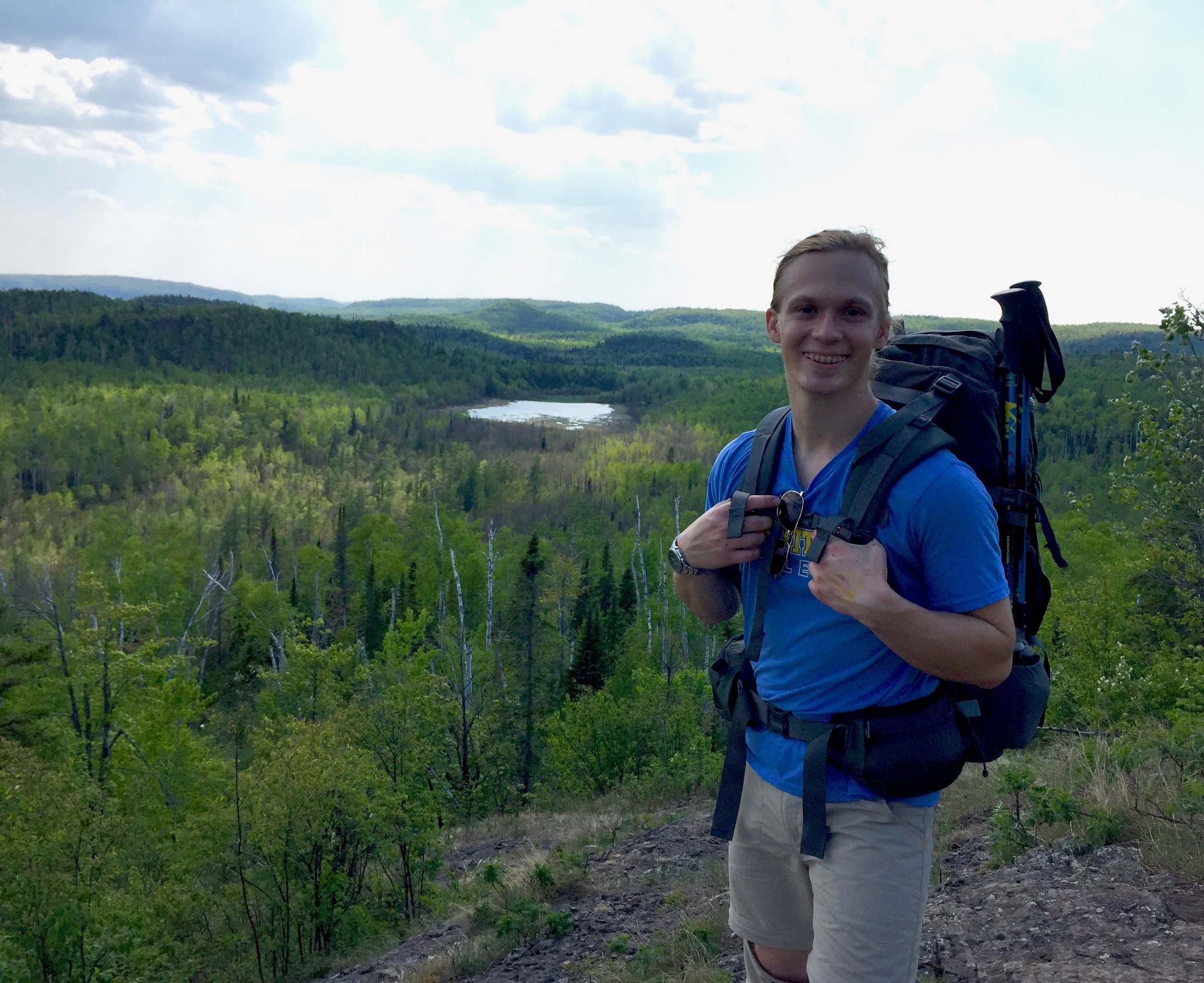 Erik Grinde - by Bear and Bean Lakes on the Superior Hiking Trail