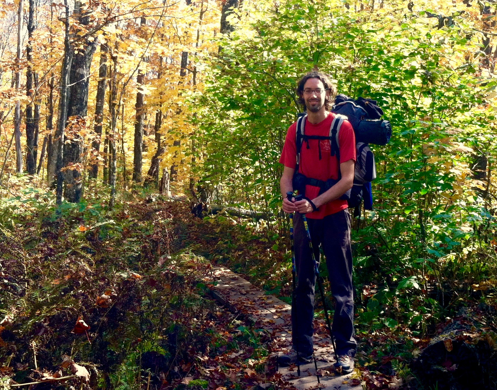 Dario on the Superior Hiking Trail ~ September 2014