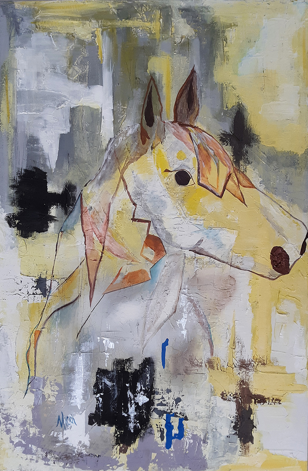 "Essence of Horse  . 2018. Acrylic on canvas. 24"" x 36"" Original painting  purchase  info. Canvas prints  purchase  info."