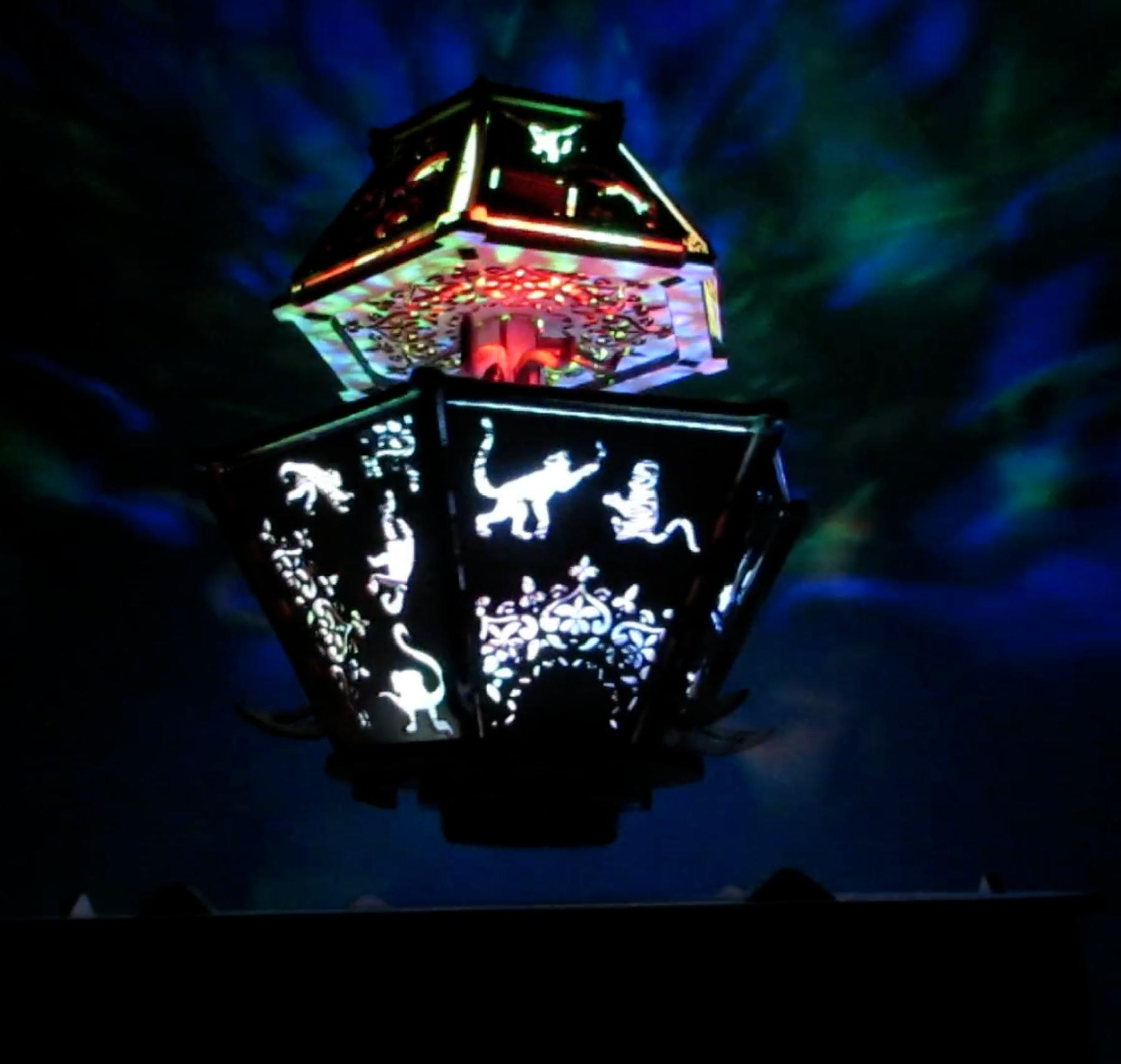MONKEY TEMPLE   Laser-cut Levitating Lamp
