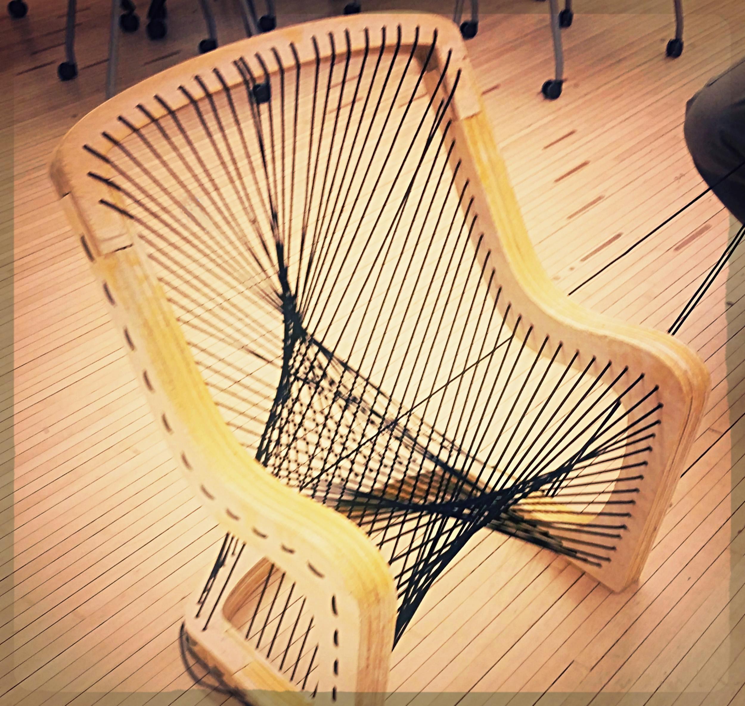 DESIGNER CHAIR   CNC Wood & Ergonomic String Art