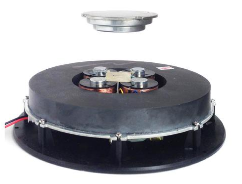 Electromagnet and levitating disc