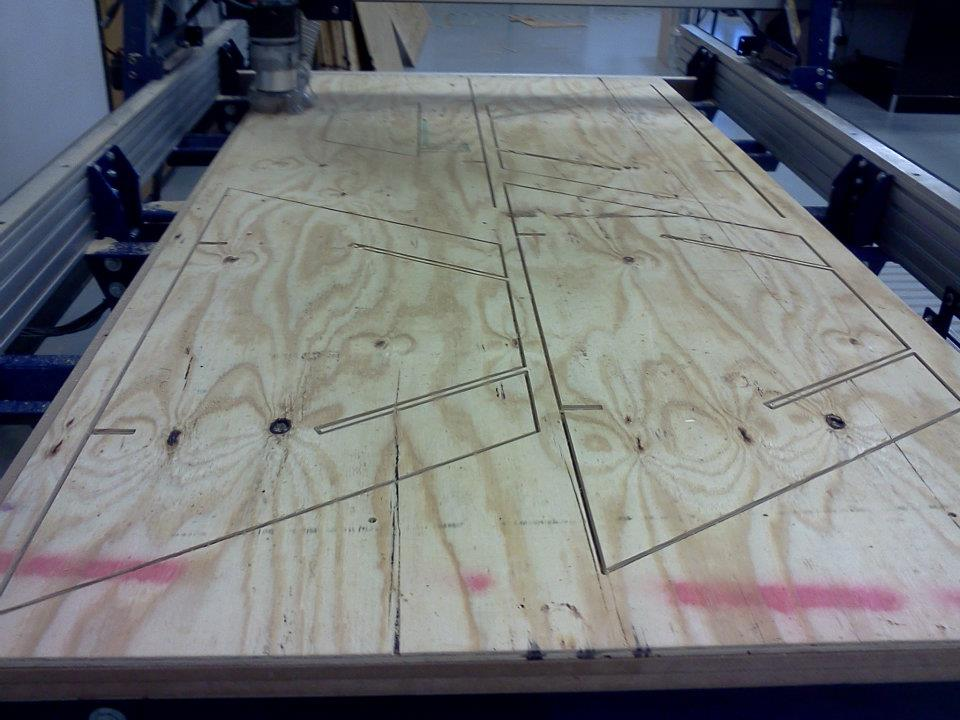 Shopbot CNC of final plywood