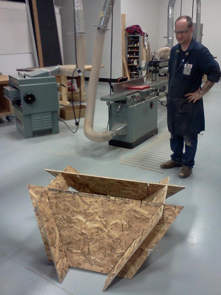 OSB (Oriented Strand Board) cheaper wood prototype
