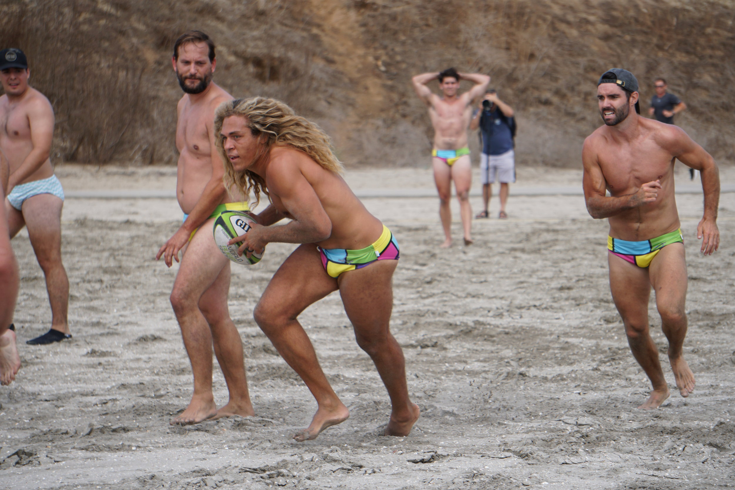 Block party on debut at the Beach Touch Rugby World Championships