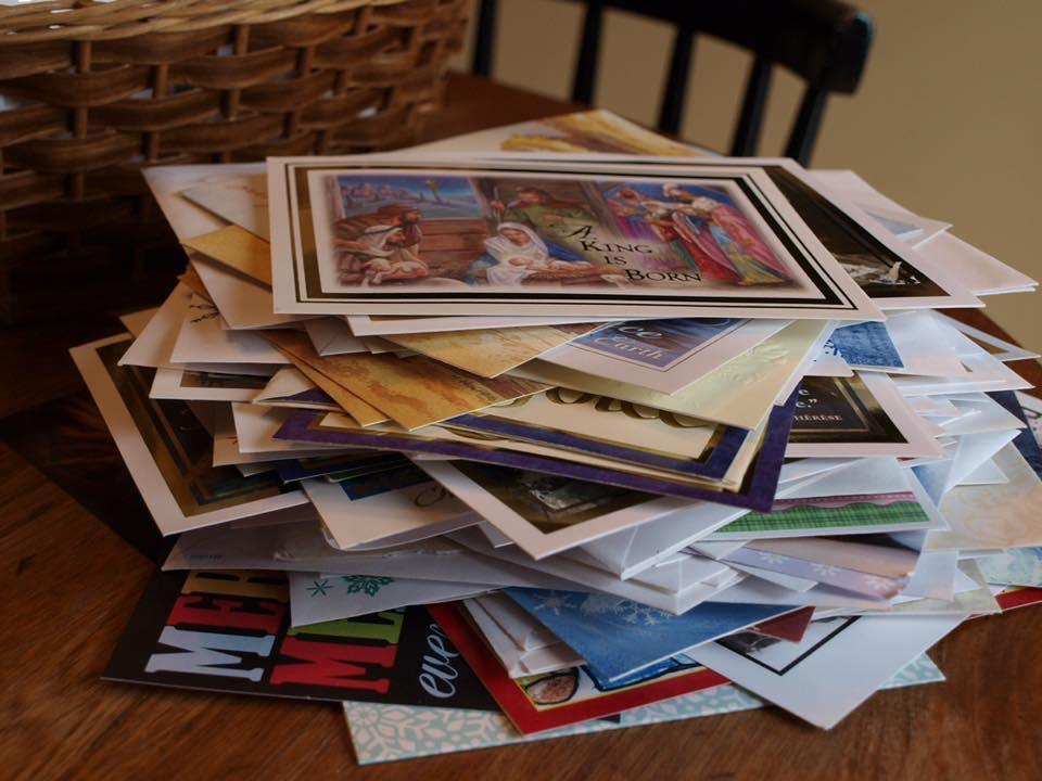 a christmas card pile.jpg
