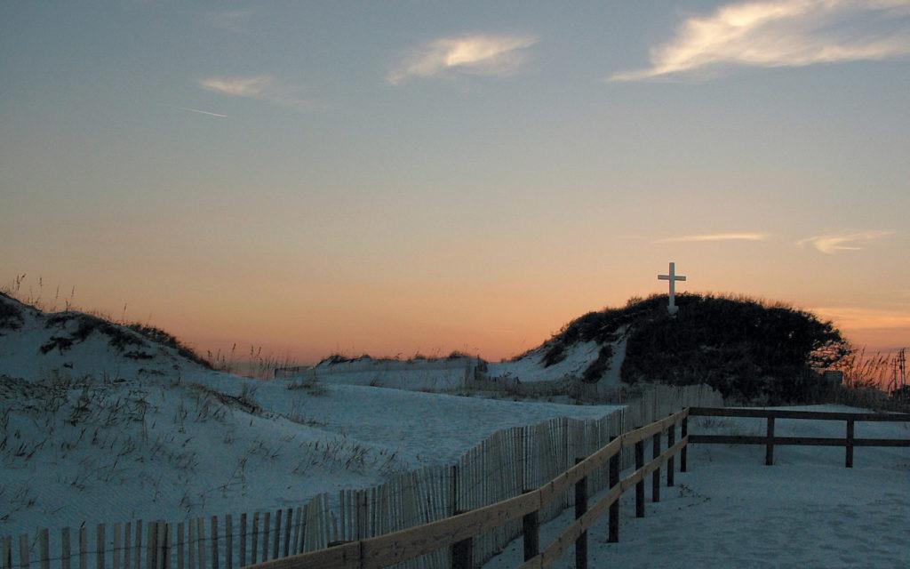beach cross dusk.jpg