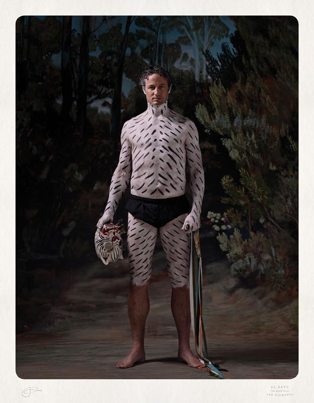 Jacqui Stockdale  El Gato of Van Diemonia, 2012  Type C Print Edition of 8 + 2AP 100 x 78 cm
