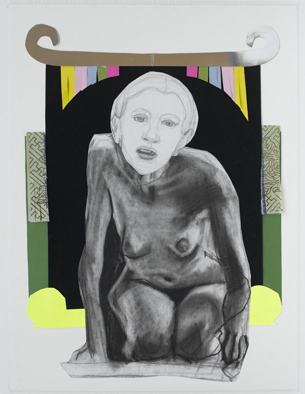 Jacqui Stockdale  The Maker, 2010  Paper collage elements 76 x 56cm