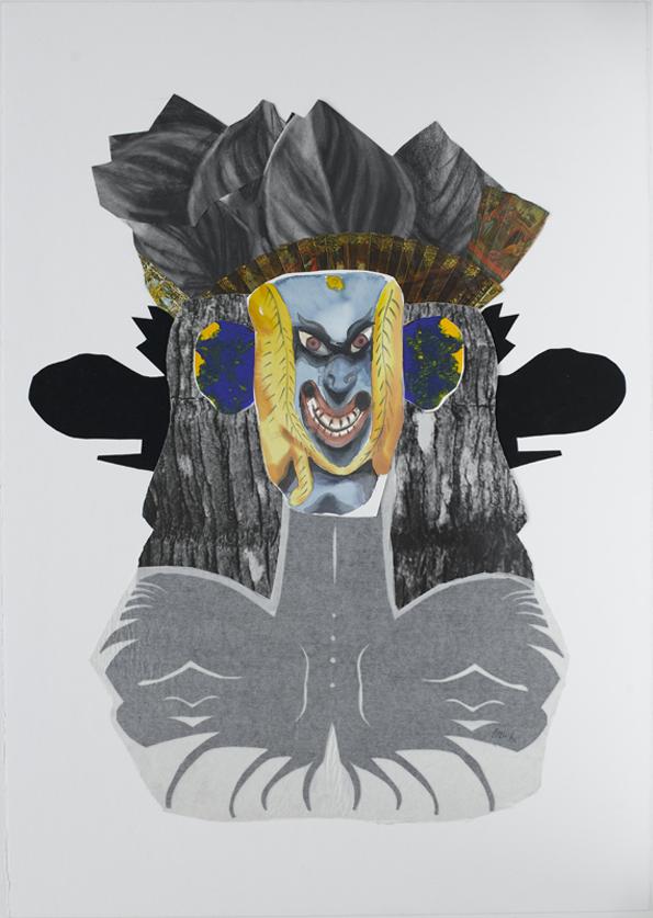 Jacqui Stockdale  Man Ho, 2010  Paper collage elements 100 x 70cm