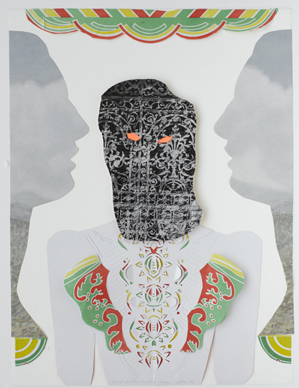 Jacqui Stockdale  Careful She Might Hear You, 2010  Paper collage elements 76 x 56cm