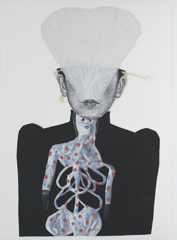 Jacqui Stockdale  To Return, 2010  Paper collage elements 76 x 56cm