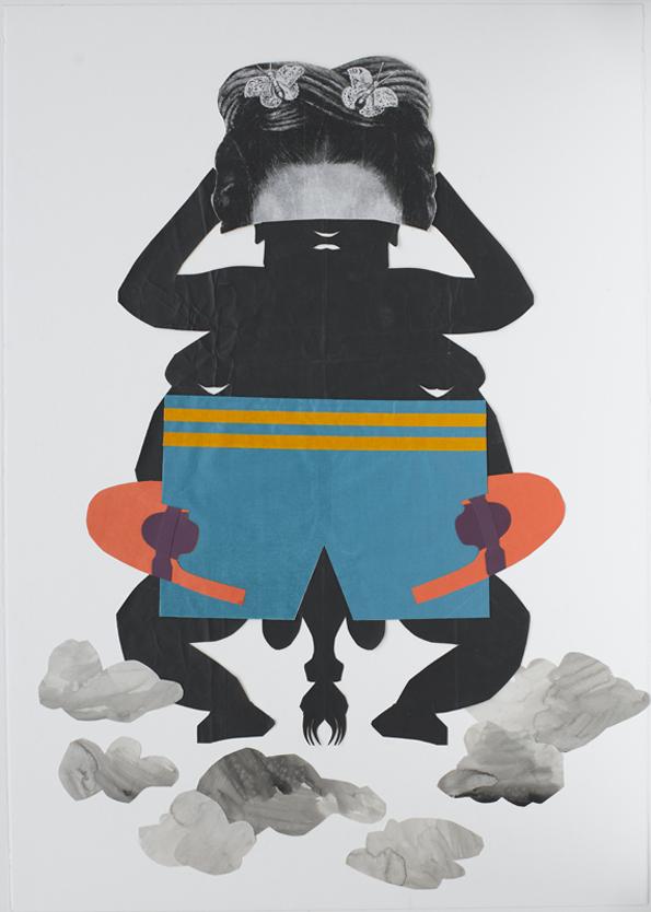 Jacqui Stockdale  Buoy, 2011  Paper collage elements 100 x 70 cm