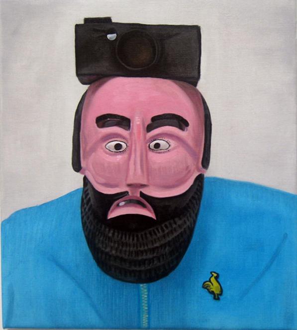 Jacqui Stockdale  Oneness of Man#2, 2011  Oil on linen 46 x 40cm
