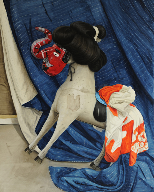 Jacqui Stockdale  Samurai Pony, 2011  Oil on linen 152 x 122cm