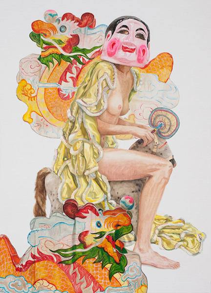 Jacqui Stockdale  Between the Dragons, 2010  Oil on linen 196 x 140cm