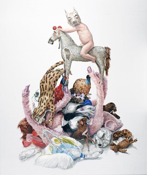 Jacqui Stockdale  The Animal Rider, 2010  Oil on linen 195 x 165cm