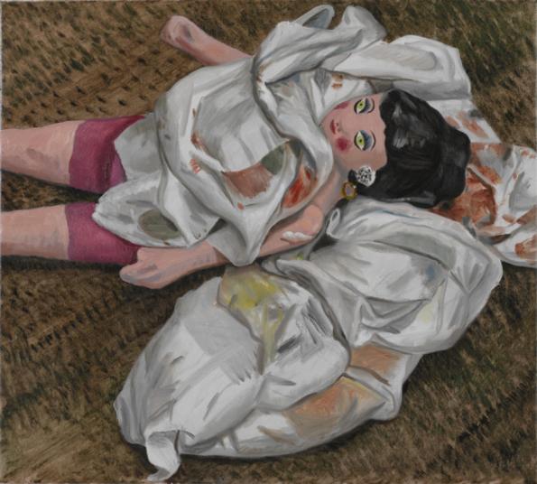 Jacqui Stockdale  Bordello Rags, 2008  Oil on linen 56 x 61cm